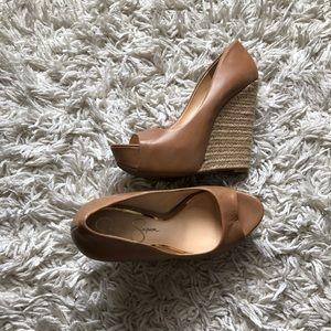 Jessica Simpson wedged heel (tan)